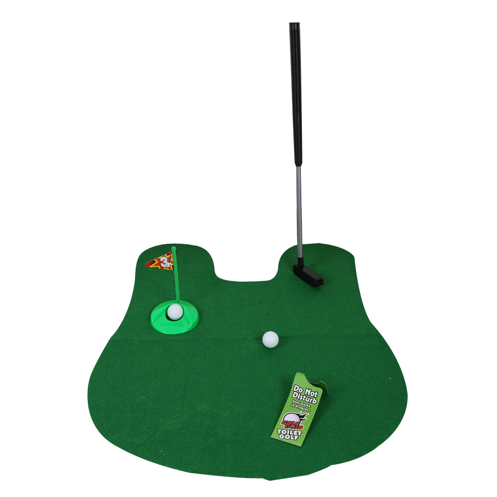 Buy Funny Toilet Bathroom Mini Golf Mat Potty Putter Putting Game ...